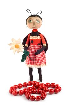 Free Soft Toy Ladybird And Chaplet Stock Photography - 15685542