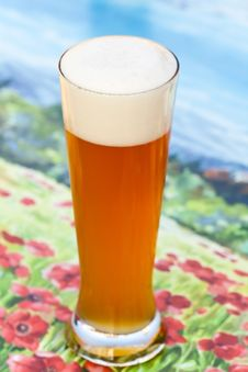 Free Close Up ,Big Glass Of Beer Stock Photography - 15685562