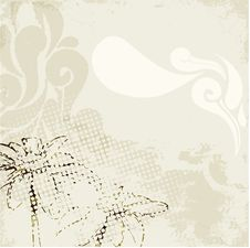 Free Vintage Flower Paint Stock Images - 15686364