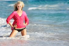 Free Beautiful Woman On Beach Stock Images - 15686894