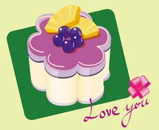 Free Purple Blueberries Cake Royalty Free Stock Photos - 15688098