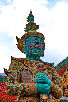 Free The Giant Statue In Grand Palace, Bangkok Thailand Royalty Free Stock Photo - 15688675