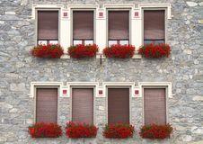 Windows With Flowers Stock Photos