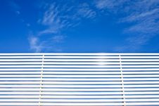 Free Metal Fence Lines And Blue Sky Stock Photography - 15689032