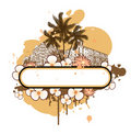 Free Banner With Palm Trees And Flowers Stock Image - 15694081