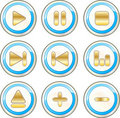 Free Music Buttons Royalty Free Stock Photos - 15695658