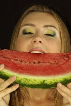 Free Ripe Watermelon Royalty Free Stock Photo - 15690665