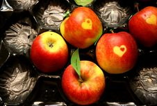Free Apples With Hearts. Stock Photo - 15691050