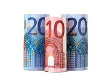 Free Rolled Up Fifty Euro Stock Images - 15692004