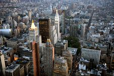 Aerial View Of New York Stock Photo