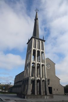 Church In Bodø Stock Image