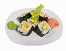 Free Rolled And Sushi Stock Image - 15693011