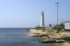 Free Lighthouse On The Cape Tarhankut Royalty Free Stock Photography - 15693247