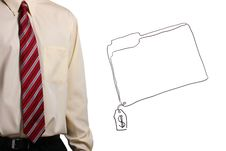 Man Standing Next To A Drawing Stock Photo