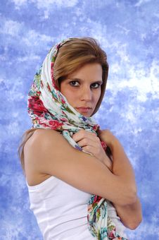 Female Model Posing Expressions Royalty Free Stock Photos
