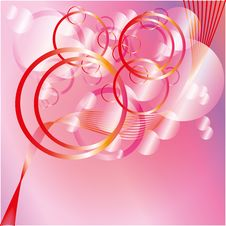Free Pink Circles Background In Glamour Style Stock Photos - 15693403