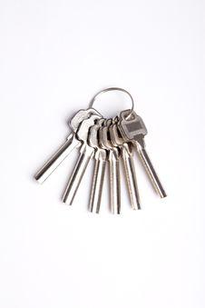 Free Isolated Keys On White Background Stock Image - 15693441