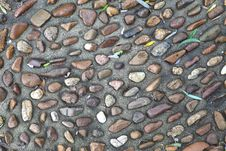 Aggregate Sidewalk Texture Royalty Free Stock Photo