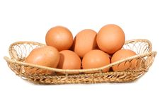 Free Eggs In A Basket Royalty Free Stock Images - 15693569
