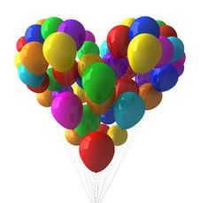Free Colorful Balloons Royalty Free Stock Image - 15693826