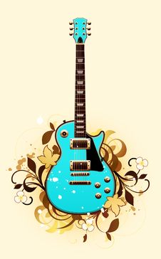 Abstract With Guitar Royalty Free Stock Photos