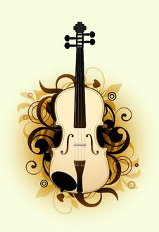 Free Abstract With Violin Stock Images - 15694984