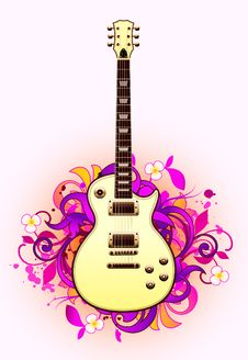 Abstract With Guitar Royalty Free Stock Image