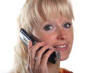 Free Blond Woman Phoning Stock Photos - 15695233