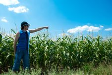 Free Man Looking At The Field Stock Photography - 15695752