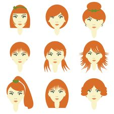 Free Girls With Different Hairstyles Royalty Free Stock Photos - 15695868