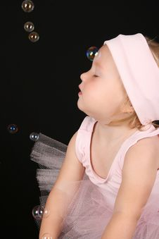 Free Blond Baby Ballerina Royalty Free Stock Photos - 15696738