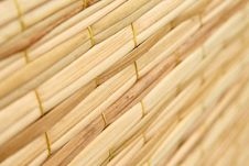 Free Weave Pattern Of Reed Mat Stock Images - 15696874