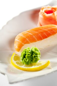 Free Smoked Salmon Sushi Stock Photo - 15697350