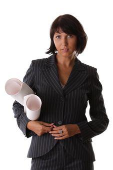 Beautiful Sexy Business Woman Stock Image