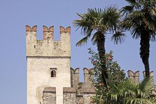 Sirmione, Scaliger Castle, Lake Garda, Italy Royalty Free Stock Photo