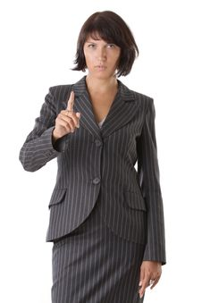 Beautiful Business Woman Pointing Stock Image