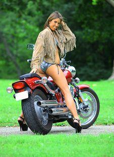 Free Biker Babe Stock Photography - 15699102