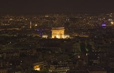 Free L Arc De Triomphe At Night Stock Photo - 15699280