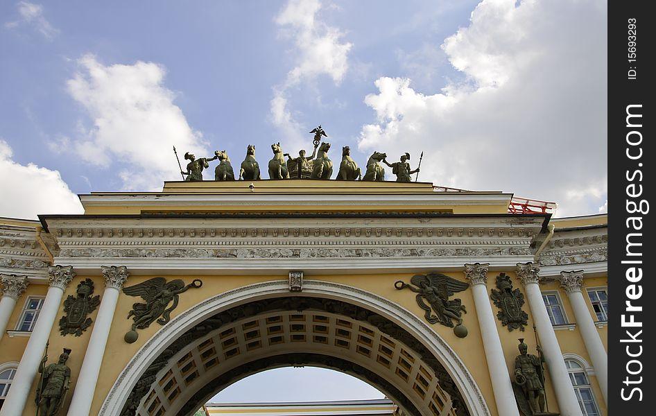 Chariot of glory, Saint Petersburg, Russia