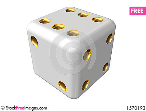 Single dice Stock Photo