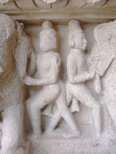 Free India, Madhya Pradesh, Khajuraho, Mahadeva Temple, Erotic Carving Stock Photo - 1570000
