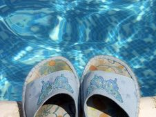 Free Blue Flip-flops Stock Images - 1570084