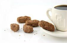 Free Single Cup Of Coffee With Chocolate Treats Stock Photo - 1571620