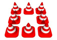 Free Traffic Cones Forming A Square Stock Photos - 1571973