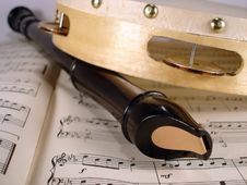 Free Flute And Tambourine Stock Image - 1572271