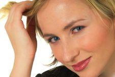 Free Blond Woman Blue Eyes 2 Royalty Free Stock Photo - 1572455