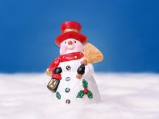 Free Snowman In Red Hat Stock Photos - 1573253