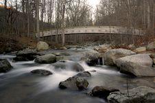 Free Wood Bridge Over Stream Stock Photos - 1573393