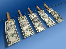 Washed Dollars Stock Photos