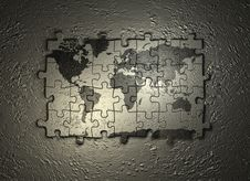 Free World Map Puzzle Royalty Free Stock Image - 1574546